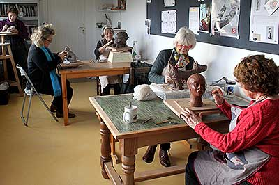 L'atelier de modelage à Chambourcy (Yvelines)